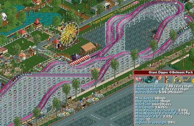 Belmont Park S Giant Dipper Track Design Advice Rct