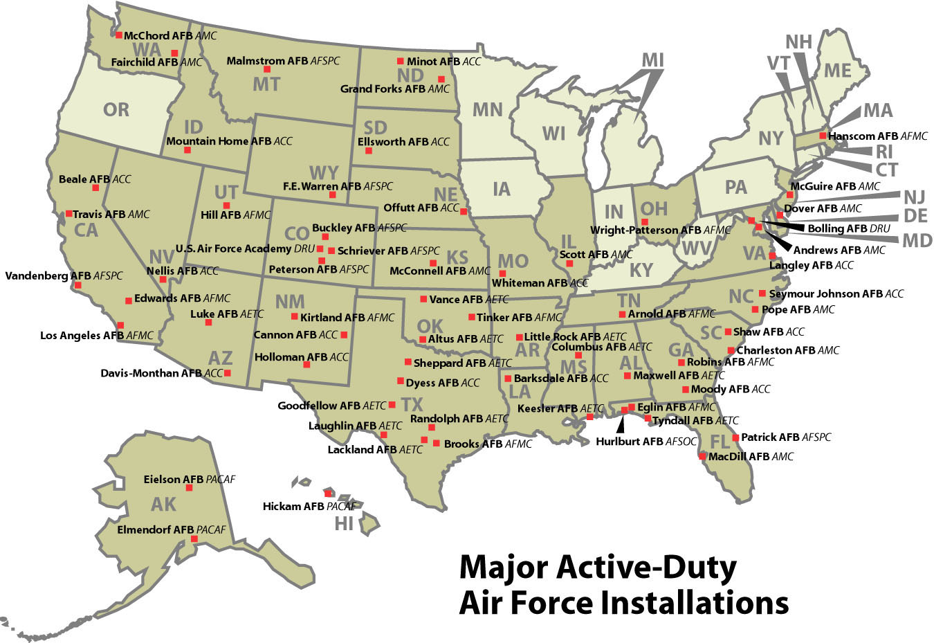 Us Military: Us Military Locations