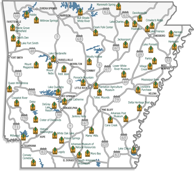 Emergency Preparedness Evacuation Issues: Arkansas State Parks Camping Map At Codeve.org