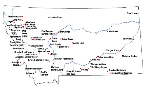 Montana Makoshika State Park Map National Parks In Montana State - Montana state map